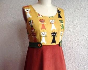 Meow Meow dress Sz 4/6