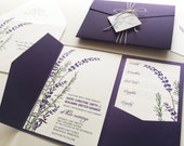 Reserved for Brooke Leahy, Balance of Lavender and Rosemary Wedding Invitations