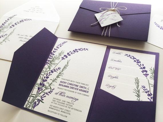 Favori Lavender Wedding Invitations ER97