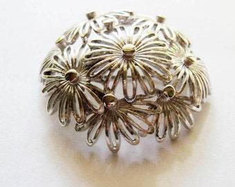 Vintage Monet Flower Pin