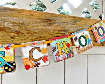 Back to School Banner-Back To School Sign-First Day of School Sign-Classroom Decor-Teacher Gifts-1st Day of School-Classroom Sign-Fall
