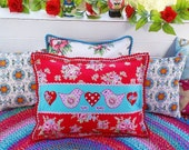 Love Birds cushion, appli...