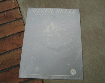 1950  vintage sheet music (  Silver Bells )