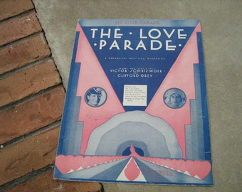 1929  vintage sheet music (  The Love Parade )