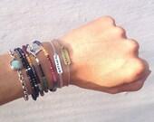 Sterling silver tag bracelet DREAMER hand stamped dainty chain bracelet stack bracelet personalized customized bracelet layering  bracelet