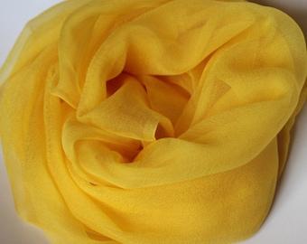 """Golden Yellow Silk Chiffon Gauze - Photo Prop - Infant Wrap  - Great Gift - Low Shiping - Accessory - 20"""" x 84"""""""