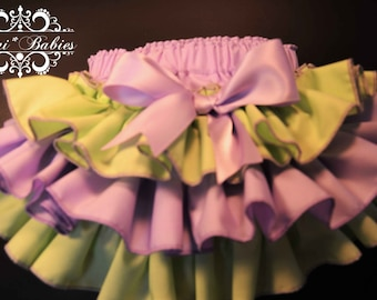 Wisteria and Waterlily  Fancy Pants Ruffled Diaper Cover
