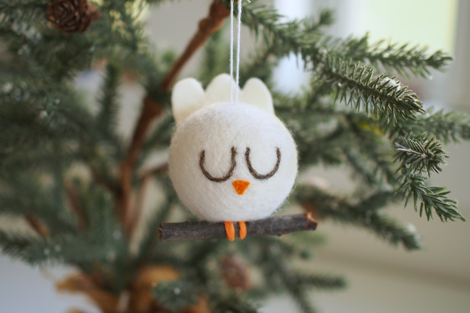 Peace Dove Christmas Ornament Tree Decoration White By