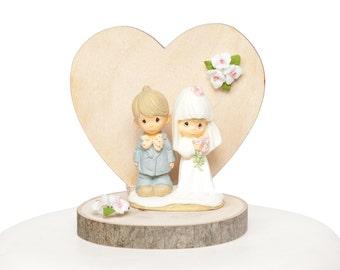 Precious Moments Rustic Wedding Cake Topper - 104318