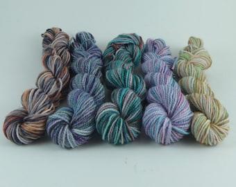 NEW Yarn of Letters Mini Sock Skein Set - Season 11 - 50g/200yd - 5 Variegated Minis