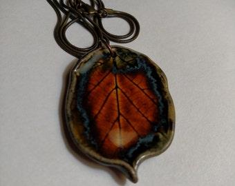 Wild Hazelnut Leaf Necklace