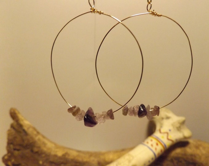 Amethyst Healing Earrings, Healing Crystal and Gemstone Jewelry, Healing Jewelry, Healing Crystal and Stones, Native American inspired