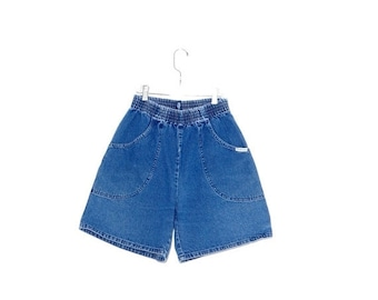 OMG HALF OFF Cutest Denim Shorts // elastic waist shorts high waisted shorts high waisted denim shorts distressed jeans mom jeans