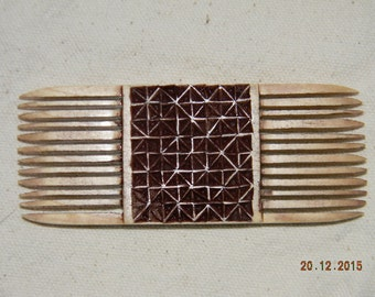 Chip Carved Double Sided Comb