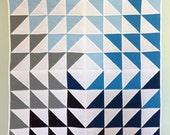 CUSTOM - Blue Diamond Quilt for Jill.