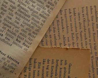 Authentic Vintage Antique book pages (set of 3 pages)