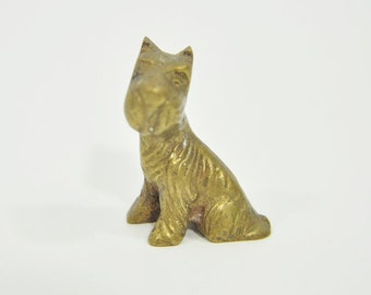 Miniature Brass Scottie Dog - Scottish Terrier