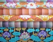 1/2 YARD Bundle - 5% OFF! Kaffe Fassett, Kim & Lotus Stripe, Designer Cotton Quilt Fabric, Floral Fabric, Quilting Fabric