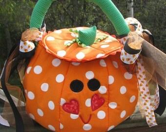 Halloween pumpkin  trick or treat bag,goodie bag,