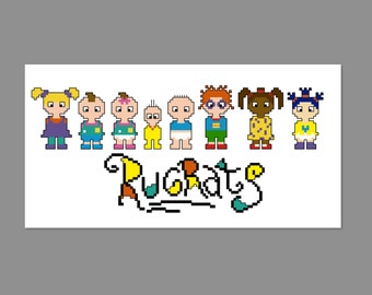 Rugrats Small Pixel People Character Cross Stitch PDF PATTERN ONLY
