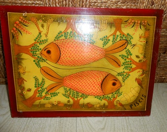 Piscis Pisces Vintage Picture