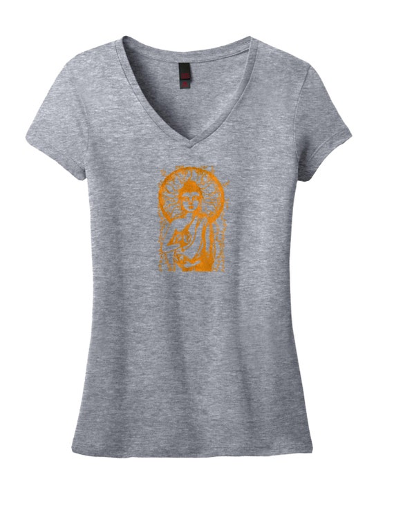 Silk screen t shirts gray t shirts buddha by olivosartstudio for Silk screen tee shirts online