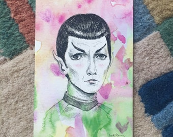 Sci-fi Boyfriend Spock - 4x6 print