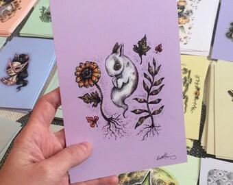 Sweet Bunny Spirit Drawlloween print