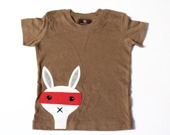 SYLVESTER THE SNEAK - boys shirts - baby boy tops - toddler boy -  t shirt - bandit shirt - boys bunny tee- tops - unique gifts for boys