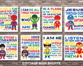 African American Superhero,Superhero Scripture Art,Scripture Superhero Art,SET, INSTANT DOWNLOAD,Boys Superhero Scripture Art