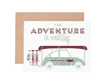 Boxed Cards - Adventure Is Waiting Letterpress Greeting Cards - Boxed Set | Blank Card | All Occassion | Retirement Card | Graduation