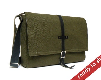 "13"" MacBook Pro Retina messenger bag - dark green"