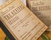 Hymnal Books Antique Vintage Set of 2 Favorite Songs Revival Special Pentecostal Paperback 1944
