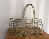 Wire Basket Vintage Egg Basket Country Rustic Farmhouse Chic Decor