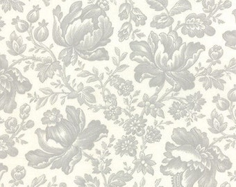 """Linen Grey Extra Wide Fabric - Moda - 11099 21 - 23"""" x 108"""" Wide - Whitewashed Cottage"""