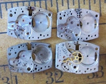 Vintage Antique Watch movements parts Steampunk - Scrapbooking D13
