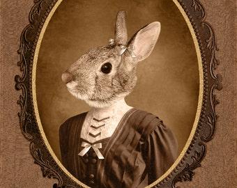 8x10 inch Hot Digital Dog Bunny Girl Juliet