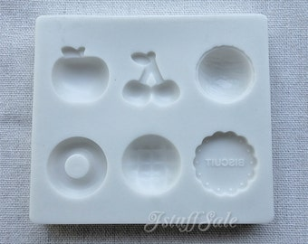 Flexible push mold for resin and clay crafts (C) 6 cavities