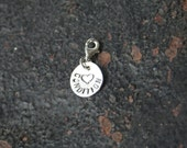 RESERVED for Cassandra Medical Alert Heart Condition Hand Stamped Sterling Silver Charm with Lobster Clasp