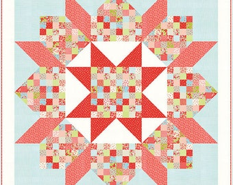 SALE - Quilt Kit - Patchwork Swoon with Little Ruby fabric by Camille Roskelley - Moda