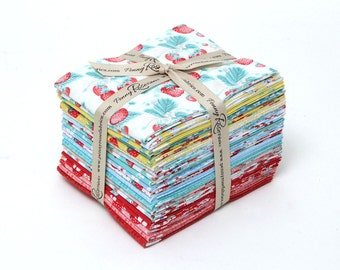 WINTER SALE - Shabby Strawberry - Fat Quarter Bundle (20) - Emily Hayes - Penny Rose Fabric