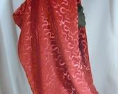 Silk Embossed Velvet Cowl