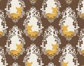 1 HALF YARD Cherished Deer in Sepia by Bonnie Christine, Art Gallery, Sweet as Honey fabrics