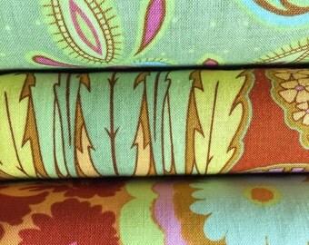 Set of 3, Free Spirit fabrics, Amy Butler, your choice of cut (fat quarter, half yard, or yard cut)