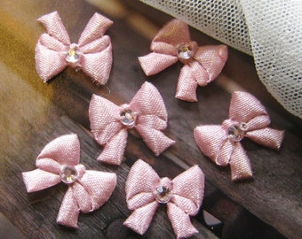 Pink Ribbon Bow - 12 pcs (Rib-F-001)