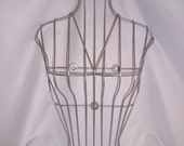 Fabulous Torso Bust Wire Frame Display Light Corsette Look