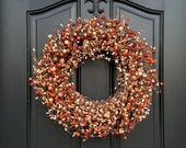 Fall Berry Wreaths - Harvested Berries - Fall Wreaths - Autumn Decor - Thanksgiving - Thanksgiving Feast