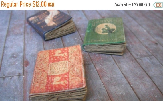 ON SALE Miniature Fairy Tale Books