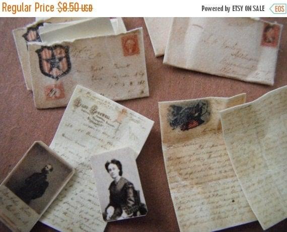 ON SALE Miniature Civil War Love Letters