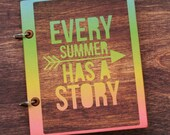 Premade Summer Travel Scrapbook- Every Summer Has a Story